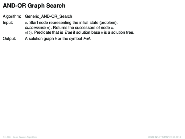 AND-OR Graph Search Algorithm: