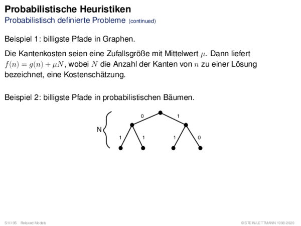 Probabilistische Heuristiken Probabilistisch definierte Probleme