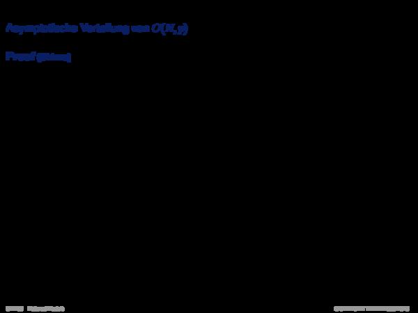 Probabilistische Heuristiken Asymptotische Verteilung von C(N, p)