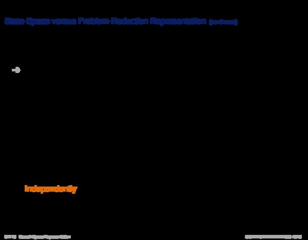 Choosing a Representation State-Space versus Problem-Reduction Representation