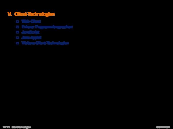 Kapitel WT:V V. Client-Technologien