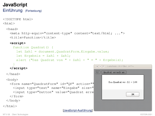 JavaScript Einführung
