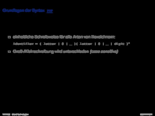 JavaScript Grundlagen der Syntax