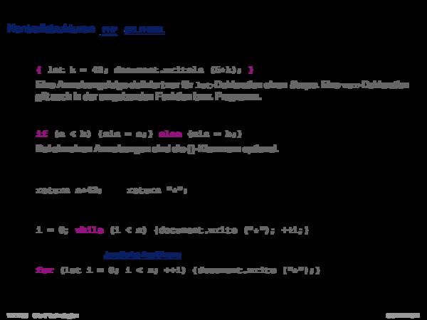 JavaScript Kontrollstrukturen