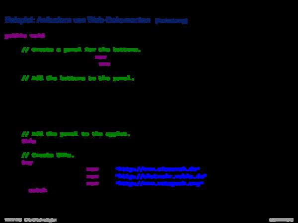 Java Applet Beispiel: Anfordern von Web-Dokumenten