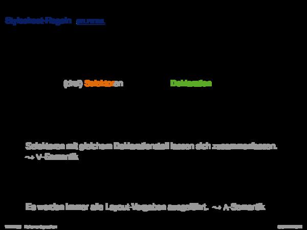 Cascading Stylesheets CSS Stylesheet-Regeln