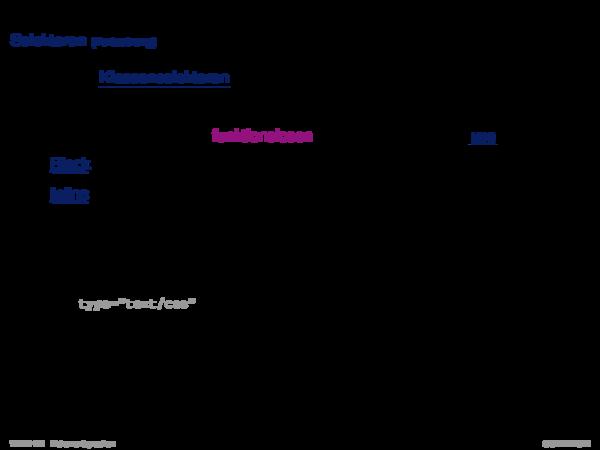 Cascading Stylesheets CSS Selektoren