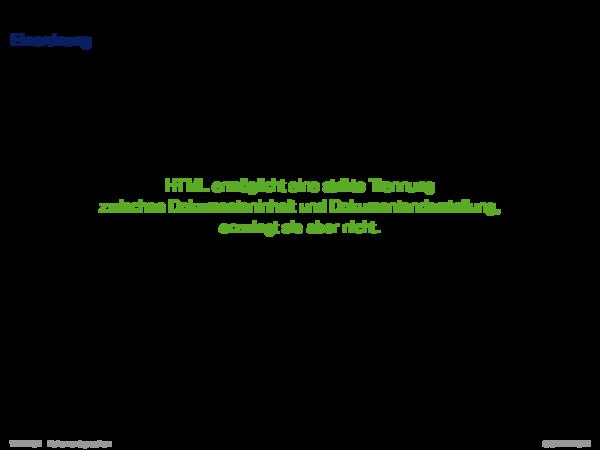 HTML Einordnung