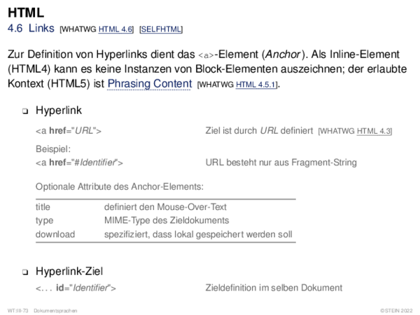 HTML 4.9 Tabular Data