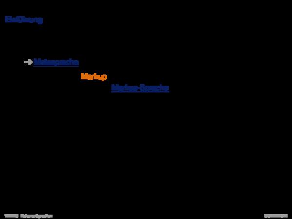 Auszeichnungssprachen SGML