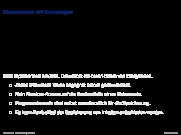 APIs für XML-Dokumente Diskussion der API-Technologien