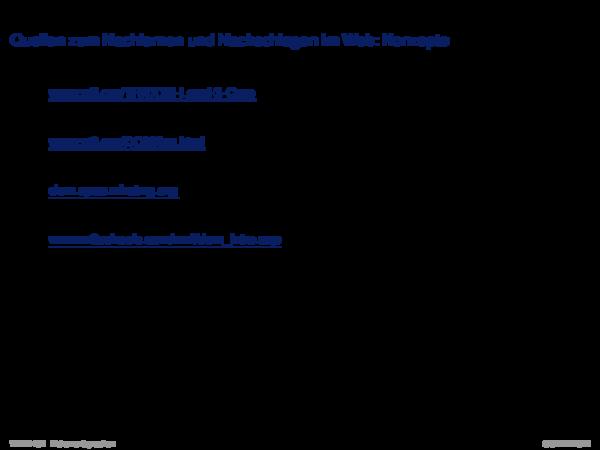 APIs für XML-Dokumente Quellen zum Nachlernen und Nachschlagen im Web: Anwendung