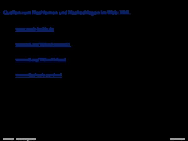 XML-Grundlagen Namensräume