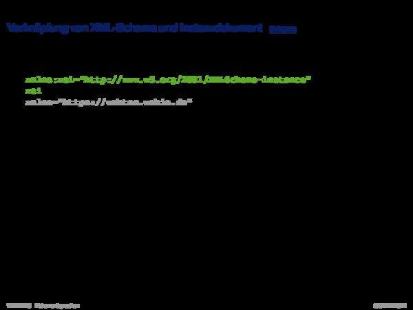 XML-Schema Verknüpfung von XML-Schema und Instanzdokument