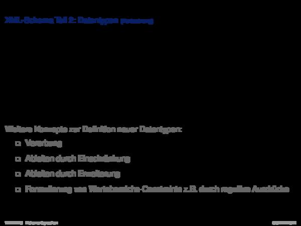 XML-Schema Schemaentwurf am Beispiel