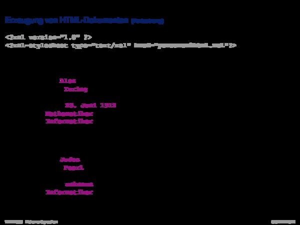 Die XSL-Familie XSLT-Prozessor: Built-in-Templates