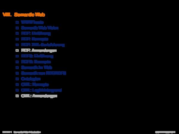 Kapitel WT:VIII VIII. Semantic Web