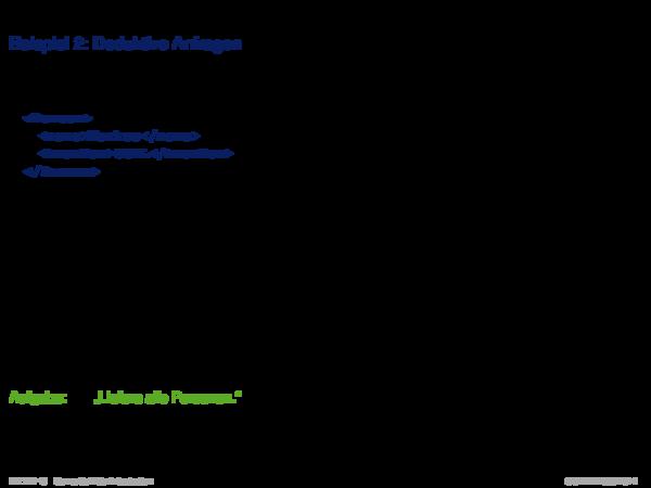 Semantic Web Vision Beispiel 2: Deduktive Anfragen