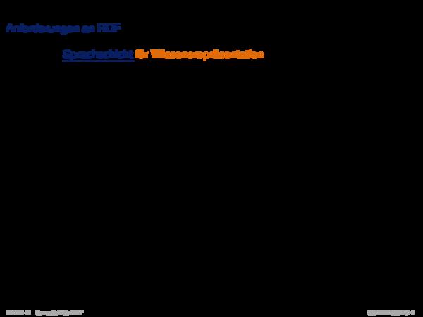 RDF: Einführung Anforderungen an RDF
