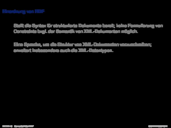 RDF: Einführung Einordnung von RDF