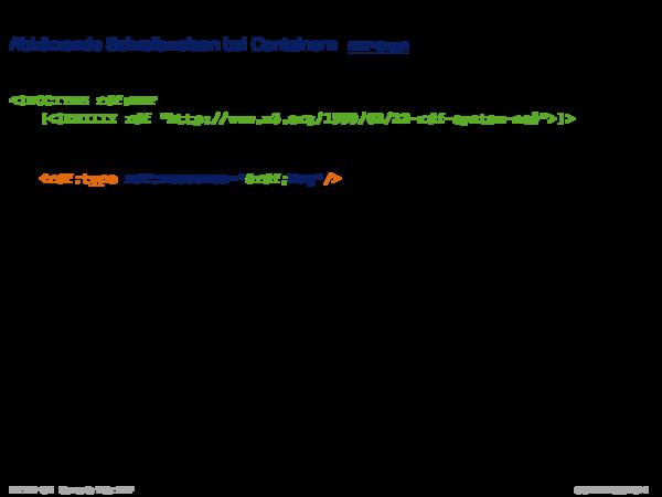RDF: XML-Syntax Abkürzende Schreibweisen bei Containern