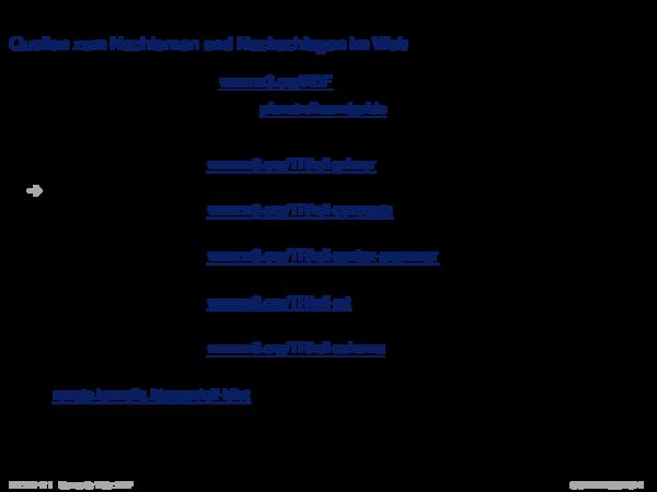 RDF Quellen zum Nachlernen und Nachschlagen im Web