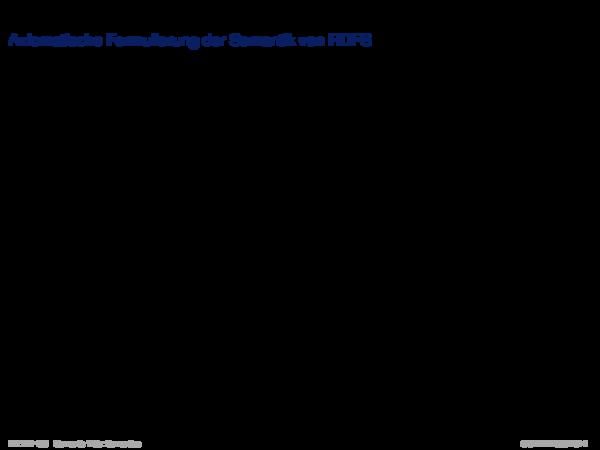 Semantik von RDF/RDFS Axiomatische Formulierung der Semantik von RDFS