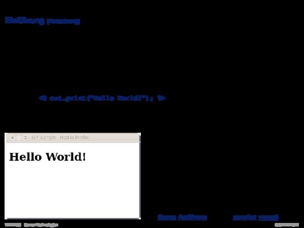 Java Server Pages JSP Konzepte der JSP-Technologie