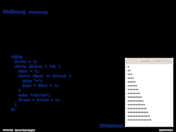PHP Hypertext Preprocessor Einführung