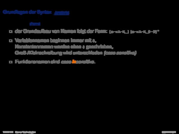 PHP Hypertext Preprocessor Grundlagen der Syntax