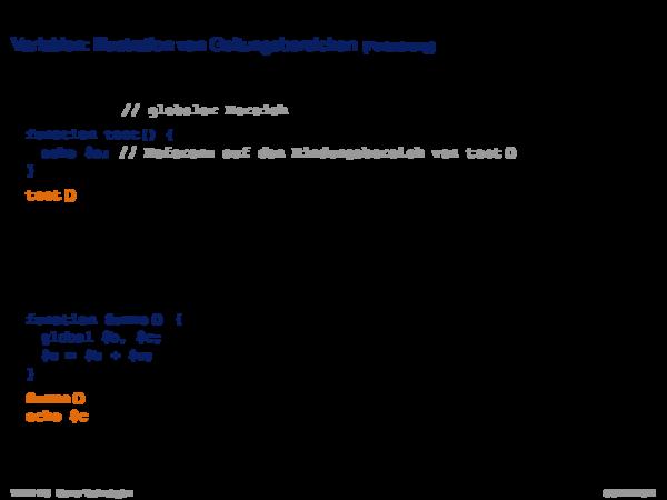 PHP Hypertext Preprocessor Datentypen: Primitive