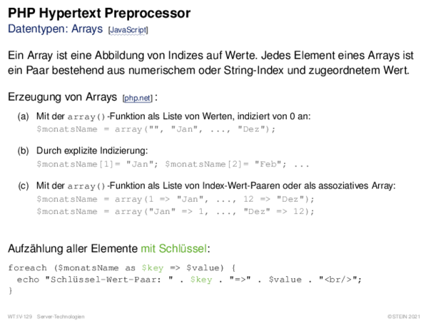 PHP Hypertext Preprocessor Kontrollstrukturen