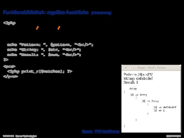 PHP Hypertext Preprocessor Funktionsbibliothek: Datenbanken