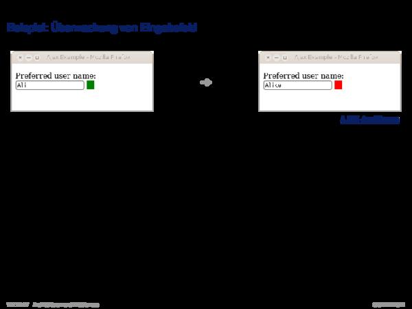 Ajax Beispiel: Überwachung von Eingabefeld