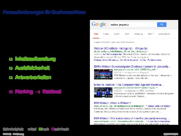 Beispiele für Web-basierte Informationssysteme Herausforderungen für Suchmaschinen